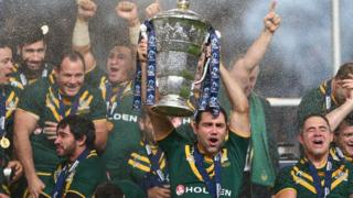 Australia lift the Rugby League World Cup