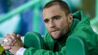 Hibernian defender James McPake
