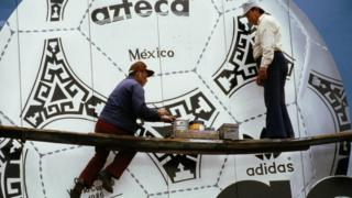 Azteca Mexico was a hand-sewn ball that was also the first fully synthetic World Cup ball when it was used for the 1986 Finals.