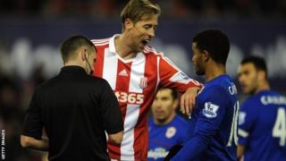 Peter Crouch and Fraizer Campbell