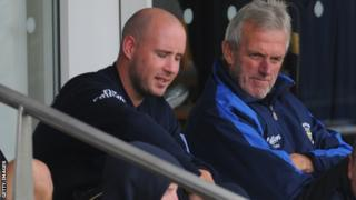 Durham bosses Jon Lewis (left) and Geoff Cook (right)