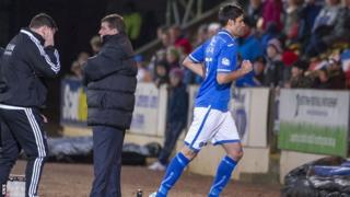 Rory Fallon is sent off