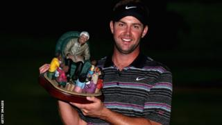 Scott Jamieson with the inaugural Nelson Mandela Championship trophy
