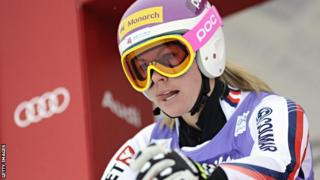 Chemmy Alcott of Great Britain competes during the Audi FIS Alpine Ski World Cup Women's Downhill training on December 13, 2012 in Val-d'Ise...