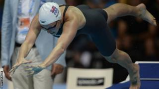 Fran Halsall, who swam in the 100m freestyle at the European Short-Course Championships in Denmark