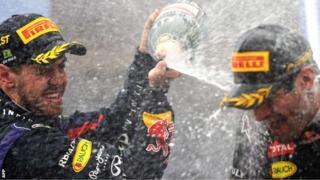 Sebastian Vettel and Mark Webber in Brazil