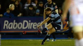 Blues fall behind to Dan Biggar's boot and Leigh Halfpenny misses two shots for the hosts