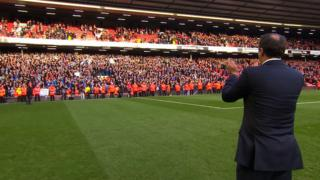 Manager Malky Mackay thanks the Cardiff fans