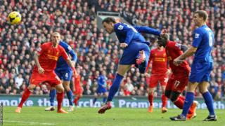 Jordan Mutch strikes for the Bluebirds, but they lose 3-1 at Liverpool