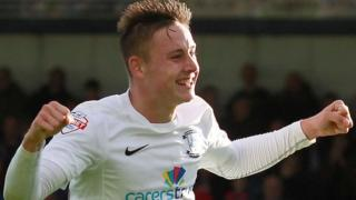 Preston North End's teenage midfielder Josh Brownhill celebrates another goal