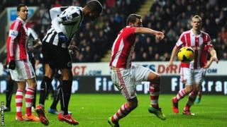 Loic Remy scores Newcastle's second against Stoke