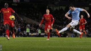Manchester City v Liverpool - Alvaro Negredo