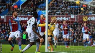 Roland Lamah scores fro Swansea