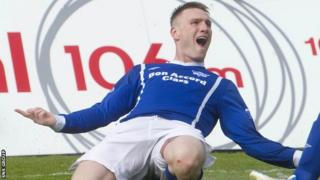 Rory McAllister scored twice for Peterhead