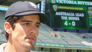 England cricket captain Alastair Cook