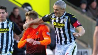 St Mirren captain Jim Goodwin clashes with Stuart Armstrong