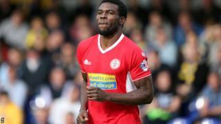 Accrington Stanley striker Kayode Odejayi