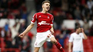 Winger Jamie Paterson scored a hat-trick as Nottingham Forest routed an under-strength West Ham side 5-0.