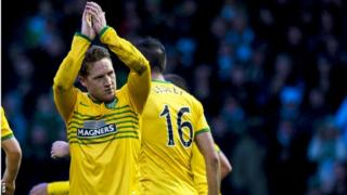 Celtic midfielder Kris Commons