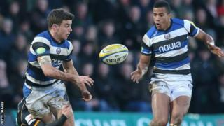 England new boys George Ford and Anthony Watson of Bath