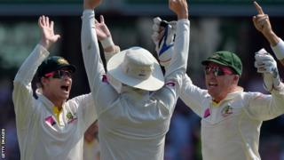 Australia celebrate their Ashes whitewash of England