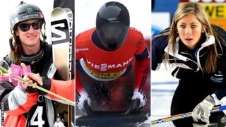 James Woods, Lizzie Yarnold and Eve Muirhead