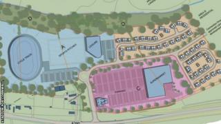 Artist's impression of the redeveloped site