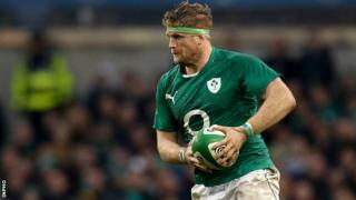 Jamie Heaslip in action against New Zealand in November