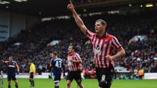 Sheffield United's Chris Porter celebrates scoring against Fulham in the FA Cup