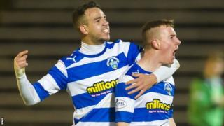 Archie Campbell (right) equalised for Morton