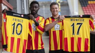 Prince Buaben and George Moncur show off their new colours