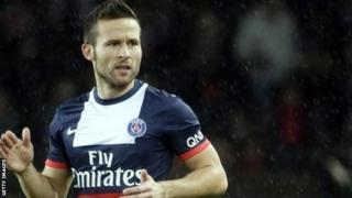 PSG's French midfielder Yohan Cabaye
