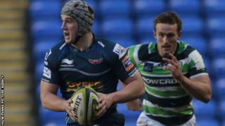 Jonathan Davies making his comeback for the Scarlets against London Irish