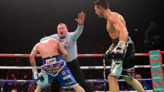 Carl Froch beats George Groves