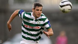 David Elebert in action for Shamrock Rovers
