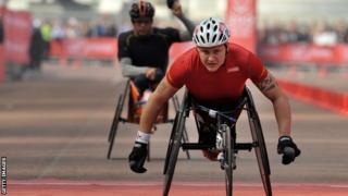 David Weir in the London Marathon