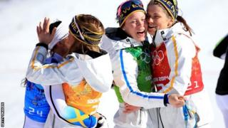 Charlotte Kalla and Sweden team
