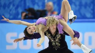 American skaters Meryl Davis and Charlie White