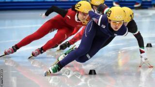 South Korea speed skating relay