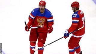 Alexander Radulov of Russia celebrates