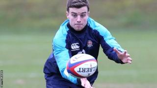 George Ford in England training at Pennyhill Park