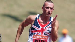 Great Britain sprinter Richard Kilty