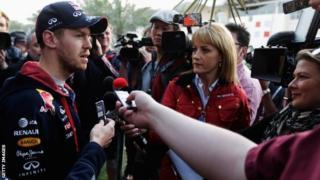 Sebastian Vettel of Infiniti Red Bull Racing