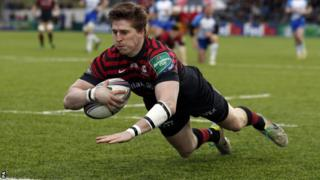 David Strettle makes his 100th appearance for Saracens