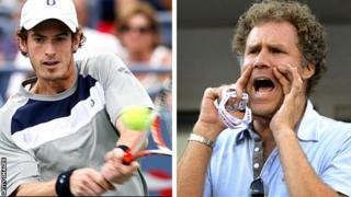 Andy Murray and Will Ferrell