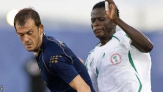 Scotland striker Steven Fletcher and Nigeria defender Aladapo Olufemi
