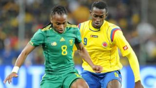 South Africa v Colombia friendly in 2010