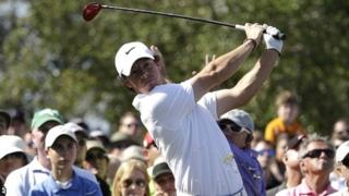 Rory McIlroy in second-round action at Doral