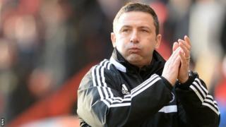 Aberdeen boss celebrates his side's 1-0 win over Dumbarton