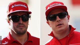 Fernando Alonso and Kimi Raikkonen